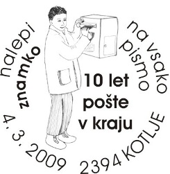 04_03_2009 - Kotlje - znamka na vsako pismo 10 let pošte