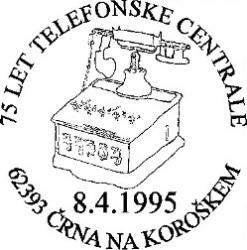 08_04_1995 - 75 let Telefonske centrale - Črna na Kor.