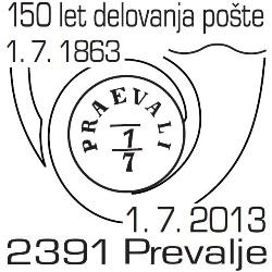 KFD87_150_let_pošte_Prevalje_1_7_2013